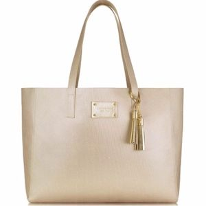 Michael KORS Large Gold Tote Bag Purse NEW